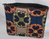 African Fabric Zipper Bag