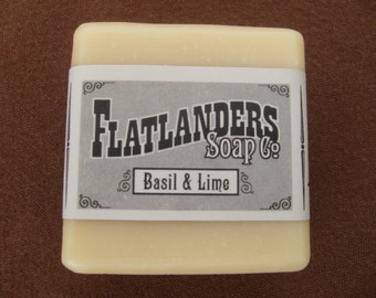 Basil and Lime Handmade Soap - Medium