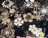 FG-FG-090SC- Nickel free, Color enameled, Sampler set of flower filigree,Cool style mix, 48 pcs