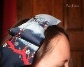 "Floral Print Bow ""Tie"" Headband"