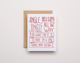 Jingle Bells - Letterpress Christmas Card