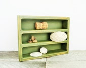 Olive Green - Little Desk Organizer - Shabby Chic