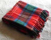 "vintage Faribault Woolen Mill Company 100% virgin wool blanket, 52"" x 54"""