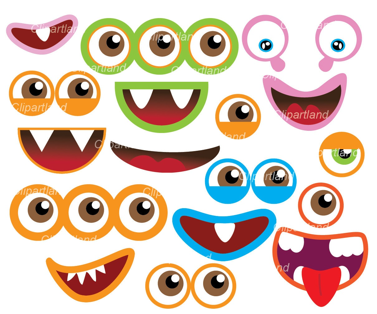 ... monster mouth clip art cookie monster template monster eyeballs