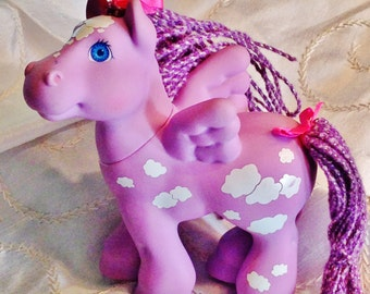 Vintage My Little Pony Toy With Wings by Hasbro Collectibles by NorthCoastCottage Jewelry Design & Vintage Treasures