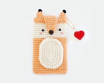 Crochet Fox iPhone 6 or 7 / Cell Phone Case