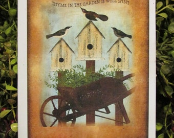 Thyme in the Garden Everyday Greeting Card - FREE SHIPPING