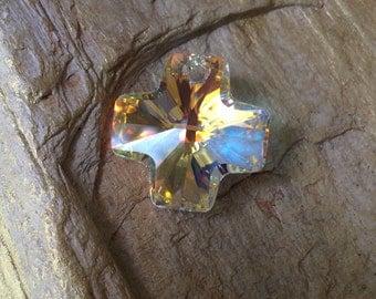 Swarovski Crystal AB Cross Pendant 20mm