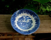 merrie england soup or cereal bowls buckinghamshire chequers meakin