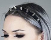 Spiked Headband   Silver Spiked Headband   Spiked Crown   Headband   Crown   Headdress   Kadabra Cult   ShopKadabra   BABY SPIKE CROWN