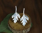 Parsley Earrings in Sterling Silver by mary Cappy, MKSterlingDesign