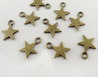 10 Pieces Star Charm for Jewelry Making, Handmade Jewelry, Jewelry Supplies, Beading Supplies - C43115