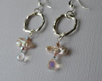 Freshwater Pearl Droplet Earrings