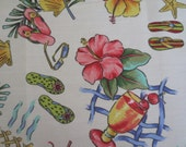 OUTDOOR Pillow Cover in a Tropical  Print