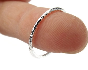 Slim Faceted Stacking Ring, Knuckle or Thumb Rings, Textured Rings, Stacking Rings, Knuckle Rings, Faceted Rings, Textured Rings, Unique