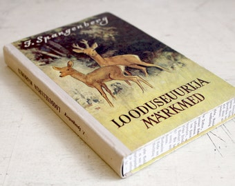 "Hollow Book Treasure Box Sherlock ""Red deers"", Secret Book Box"