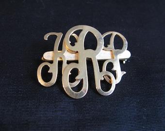 Jewelry Brooch Pin Monogram KRP Vintage