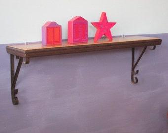 Wall Shelf - Small Wall Shelf - Recycled  Wall Shelf - Wood Shelf - Metal and Wood Shelf -