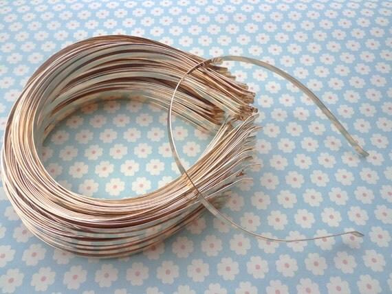 Gold headbands--12 pcs 5mm gold metal headbands