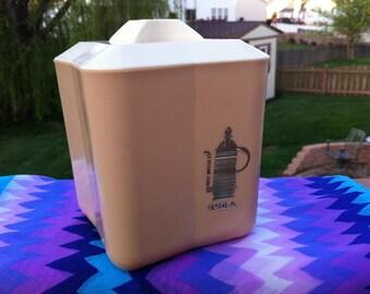 Vintage retro Plastic tea canister