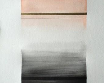 Large Original Watercolor - Color Study No. 004