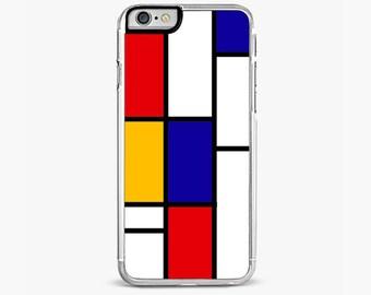 Mondrian IPHONE 6s CASE red| iPhone 6S Plus iphone 6 case iPhone 5S case iPhone 5C cover