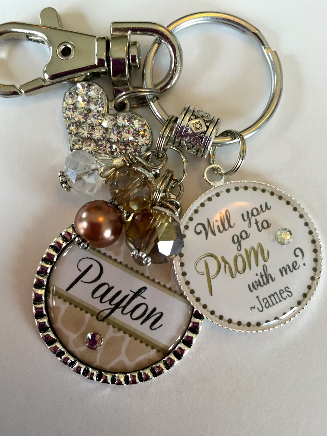 Prom Gift Personalized Keychain Will You Go To The Prom