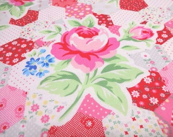 Japanese Fabric LECIEN Flower Sugar Patchwork Red  FQ