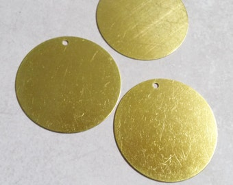 Metal Stamping Blanks Blank Charms Round Charms Blank Charms Brass Round Charms Bulk Charms Wholesale Charms-35mm 50 pieces