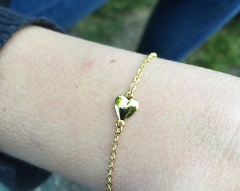 Tiny heart bracelet - 18k gold filled bracelet - Sister bracelet - Gift for her