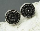 Black Marcasite Cufflinks Hickok Accessories Vintage Mens Jewelry H713