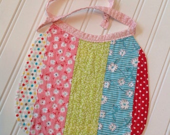 Quilted Baby Bib, Heirloom Quilted Baby Bib, Patchwork Baby Bib, Quilted Patchwork Baby Bib
