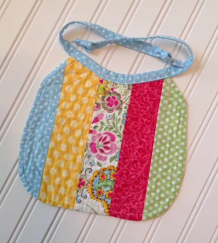 Free Patterns For Quilted Baby Bibs : Quilted Baby Bib Heirloom Quilted Baby Bib by SewSassiBoutique
