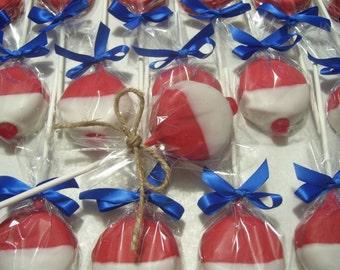 Fish Bobbers Chocolate covered Oreos Fishing Bobbers Wedding Favors Birthday Party Favors Oreo Pops 1 dozen