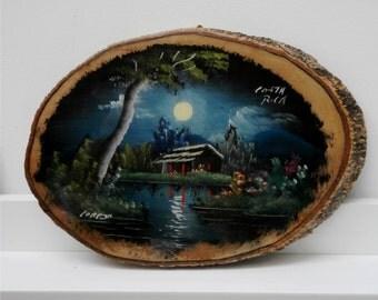 Vintage Wood Plaque Costa Rica Souvenir