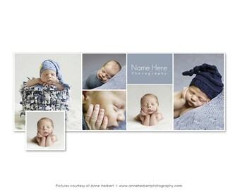 Newborn Facebook Timeline, Cover Template, Newborn Template, Timeline Template, Studio Timeline, Facebook Timeline, Facebook Banner