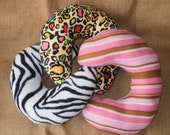 Super Soft Comfy Wild Animal Stripe Print Neck Spa Pillows