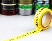 Washi Tape - Masking Tape - Paper Tape - Washi Paper - Deco Tape - Gift Packing - WT2008