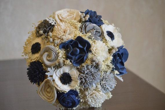 Navy Blue and Silver Wedding Collection Medium