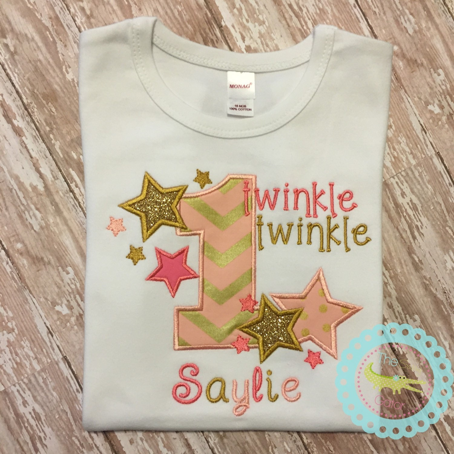 Twinkle Star First Birthday Toddler Birthday Pink and Gold
