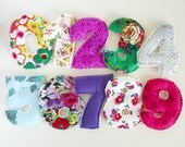 Magnetic/Plush GIRL Floral Set of Plush Numbers for Learning and Sensory Play - Made To Order