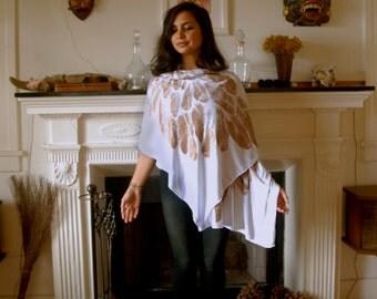 Sacred Geometry Arch Angel Wrap- Scarf- Skirt- Dress-100 Ways to wear it (white)