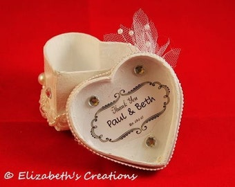 Customized Wedding Favor Heart Box, Wedding Favor, Personalized Wedding Favor, Customized Wedding Favor