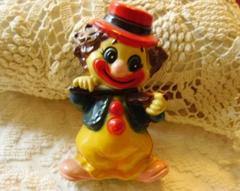 Vintage Lucite Carnival Clown Toy Bank