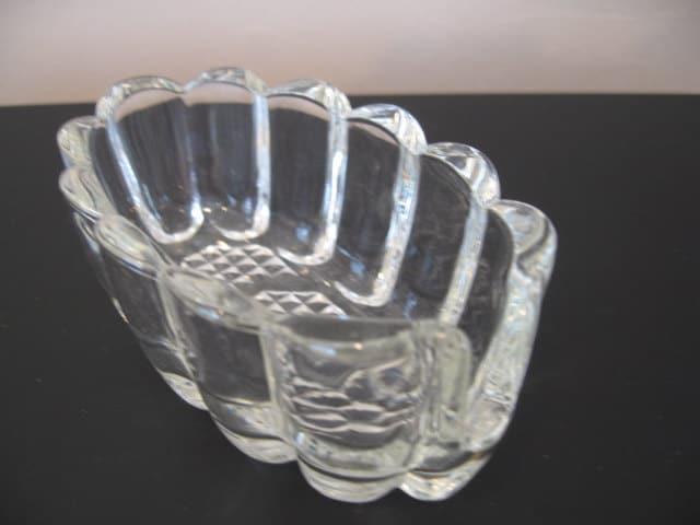 Vintage Glass Silverware Holder
