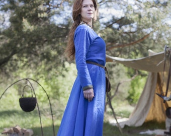 "Viking Dress ""Ingrid the Hearthkeeper""; Linen Tunic"