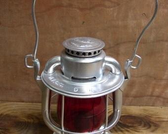 Vintage Dietz Vesta Red Globe Railroad Lantern