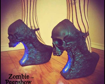 "Skull ""Purgatory"" Curved Wedges"