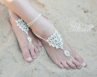 Delicate Crochet Barefoot Sandals, Bohemian, Boho, Style, Fashionable, Adult size, Custom Colors, Handmade, Yoga Socks, Wedding