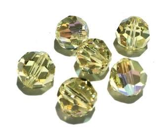 6 Swarovski Crystal, 5000 Jonquil AB, 8mm
